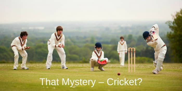 That Mystery – Cricket?