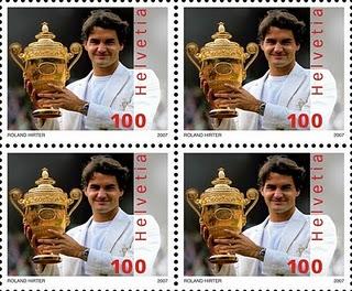 roger federer stamp