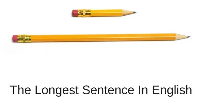 the longest sentence in English
