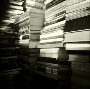 mountains of books