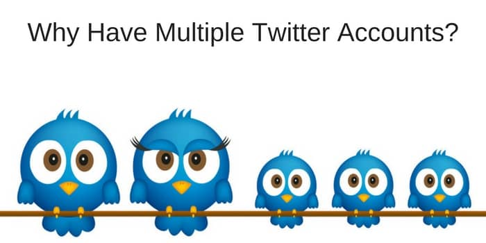 Why Have Multiple Twitter Accounts?
