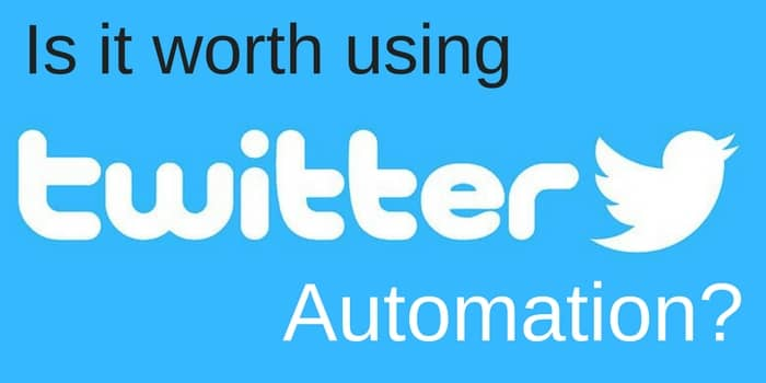 is it worth using twitter automation