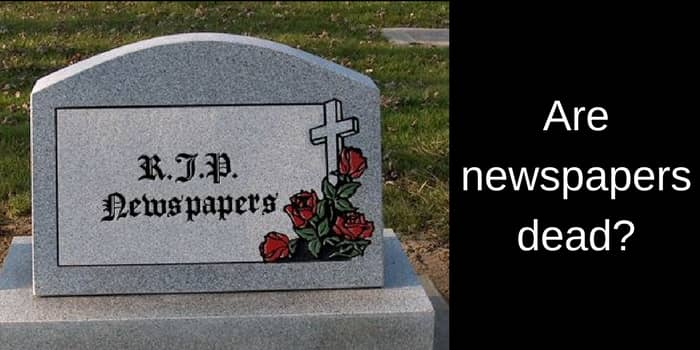 reading the news - are newspapers dead