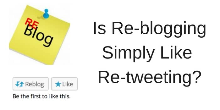 Is Reblogging Simply Retweeting?