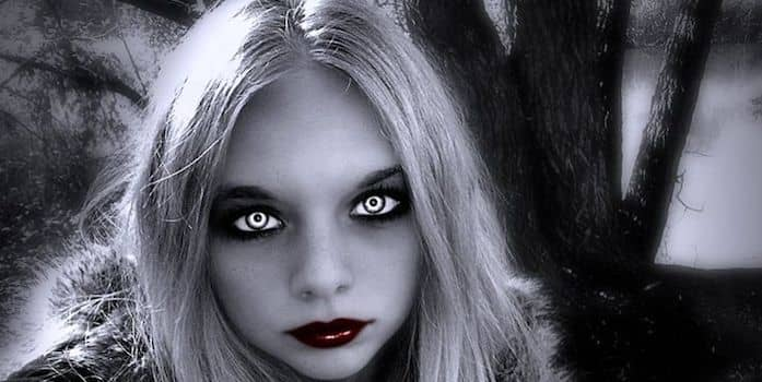 Vampire at McDonalds by Derek Haines