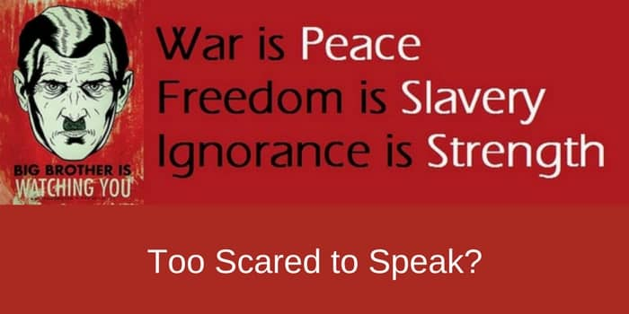 You Are Too Scared To Speak Your Mind