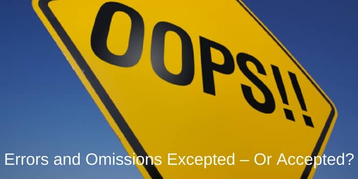 Typos - Errors and Omissions Excepted – Or Accepted?