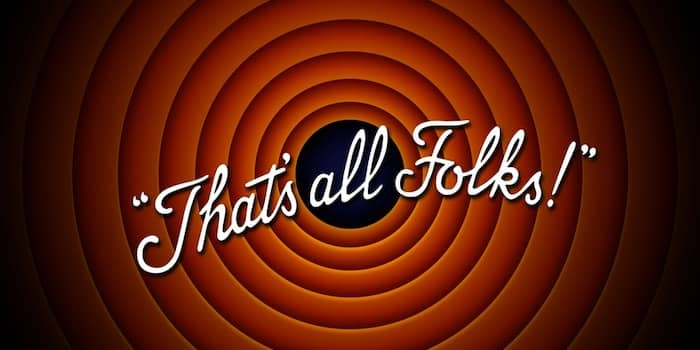 That's all folks. I Might Have Written My Last Book